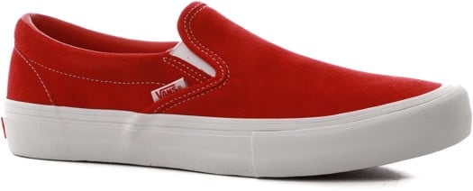 Vans Slip-On Pro Shoes - (suede) red/white - view large