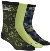 Nike SB Everyday MAX LTWT 3-Pack Sock - (other side of paradise) multi-color