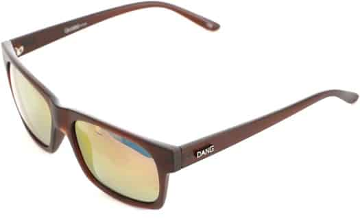 Dang Shades Grasser Polarized Sunglasses - root beer brown/fire polarized lens - view large