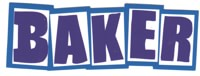 Baker Brand Logo Sticker - blue/white/blue