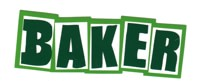 Baker Brand Logo Sticker - green/white/green