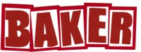 Baker Brand Logo Sticker - red/white/red