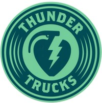 Thunder Charged LG Sticker - navy/seafoam
