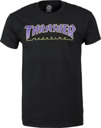 Thrasher Outlined T-Shirt - black/purple