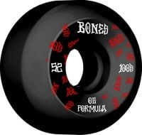 Bones 100's OG Formula V5 Sidecut Skateboard Wheels - black/red #3 (100a)