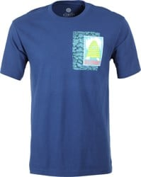 Element Tetsunori Tawaray Pyramid Man T-Shirt - blue depths