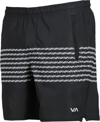 RVCA Yogger Stretch Shorts - black/white - view large
