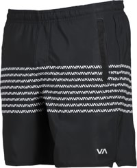 RVCA Yogger Stretch Shorts - black/white