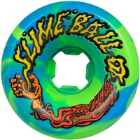 Santa Cruz Slime Balls Vomits Re-Issue Skateboard Wheels - blue/green swirl (97a)