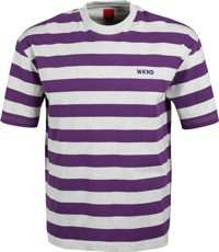 WKND Stripe T-Shirt - grey/plum