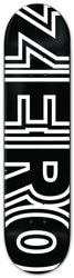 Zero Team Bold 8.25 Skateboard Deck - black/white