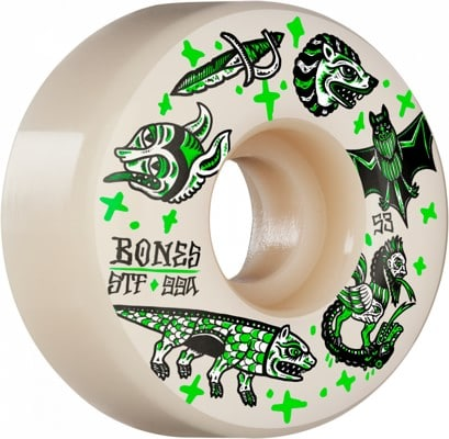 Bones STF V1 Standards Skateboard Wheels - dark knights (99a) - view large
