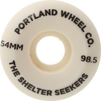Portland Wheel Company Shelter Seekers Skateboard Wheels - white (98.5a)