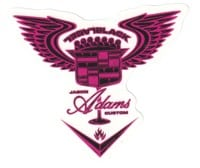 Black Label Jason Adams El Dorado Sticker - pink