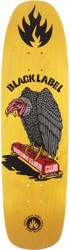 Black Label Vulture Curb Club 8.88 Skateboard Deck - yellow stain