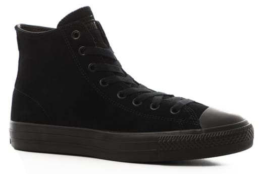 Converse Chuck Taylor All Star Pro High Skate Shoes - (suede) black/black/black - view large