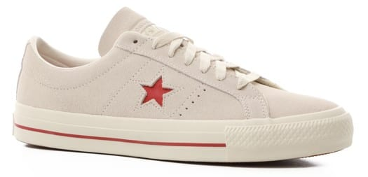Converse One Star Pro Skate Shoes - egret/red/white - view large