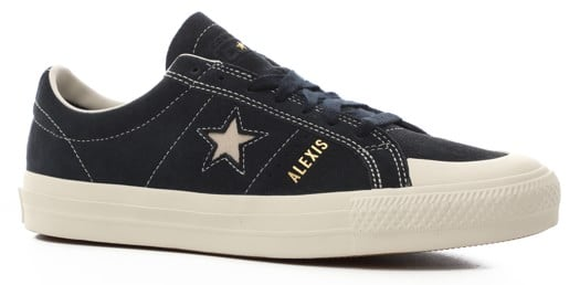 Converse One Star Pro Skate Shoes - (alexis sablone) obsidian/egret/egret - view large