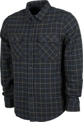 Brixton Bowery Flannel - washed black/blue