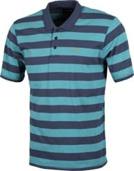 Brixton Hilt Polo Shirt - aqua/washed navy