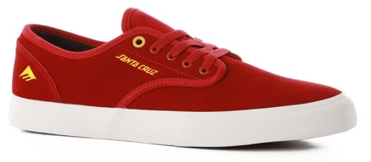 Emerica Wino Standard Skate Shoes - (santa cruz) red/white - view large