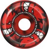 Spitfire Formula Four Conical Full Skateboard Wheels - afterburn red/black swirl (101d)