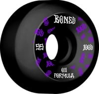 Bones 100's OG Formula V5 Sidecut Skateboard Wheels - black/purple #3 (100a)