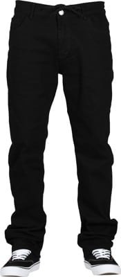 Footprint Relaxed Fit 5 Pocket Chino Pants - black - view large
