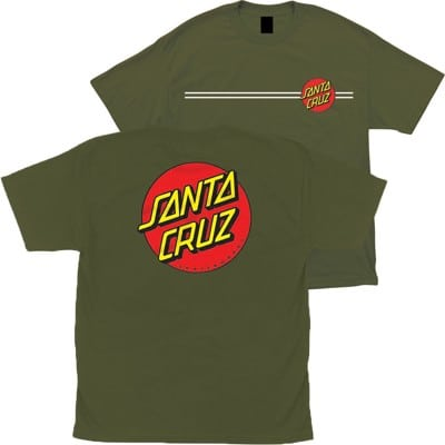 Santa Cruz Kids Classic Dot T-Shirt - military green - view large