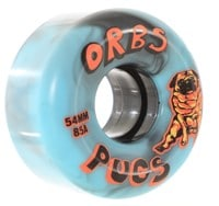 Orbs Pugs Skateboard Wheels - black/blue swirl (85a)