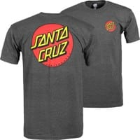 Santa Cruz Classic Dot Chest T-Shirt - charcoal heather
