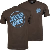 Santa Cruz Opus Dot T-Shirt - dark chocolate/blue