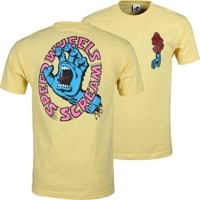 Santa Cruz Screaming Hand Scream T-Shirt - banana