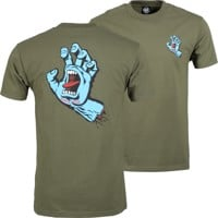 Santa Cruz Screaming Hand T-Shirt - military green
