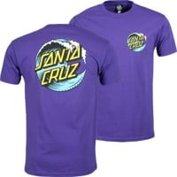 Santa Cruz Wave Dot T-Shirt - purple/blue/yellow