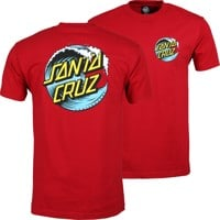 Santa Cruz Wave Dot T-Shirt - red/blue/yellow
