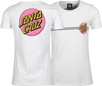 Santa Cruz Women's Other Dot T-Shirt - white