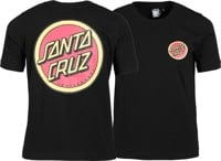Santa Cruz Women's Retro Dot Ringer T-Shirt - black