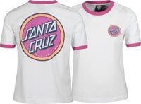 Santa Cruz Women's Retro Dot Ringer T-Shirt - white