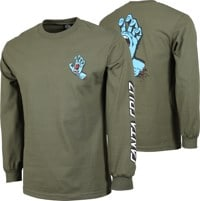 Santa Cruz Screaming Hand L/S T-Shirt - military green