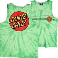 Santa Cruz Classic Dot Tank - spider lime