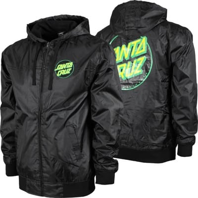 Santa Cruz Dot Hooded Windbreaker - black/black - view large