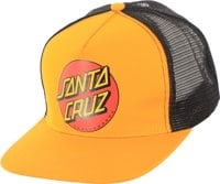 Santa Cruz Classic Dot Trucker Hat - gold/black