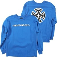 Independent Kids Bar/Cross L/S T-Shirt - royal blue