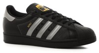 Adidas Superstar Skate Shoes - (jenn soto) core black/silver/gold