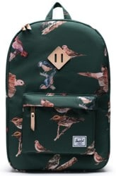 Herschel Supply Heritage Backpack - dark green birds