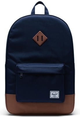 Herschel Supply Heritage Backpack - peacoat/saddle brown - view large