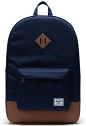 Herschel Supply Heritage Backpack - peacoat/saddle brown