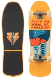 Globe Blaster 9.5 Complete Skateboard - cult of freedom/wavehead
