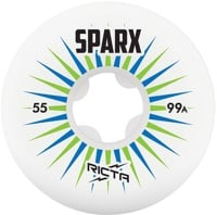 Ricta Sparx Skateboard Wheels - white/blue/green v2 (99a)